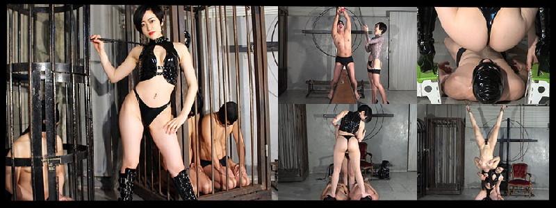 MLDO-179 Disciplined cage room of 2 male slaves, female slave and golden slave for toilet bowl Minami Nijimura episode.1